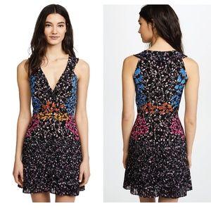 NWT Saloni Amy Short Floral Dress Ebony Posey